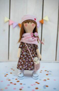 Ręcznie robiona lalka Zosia