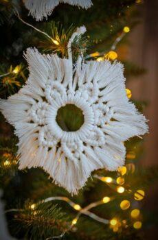 Dekoracje świąteczne - Makramowe gwiazdki
