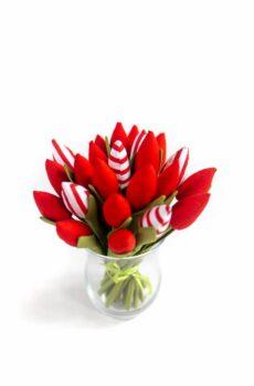 Tulipany bawełniane czerwone