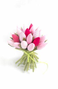 Tulipany bawełniane różowe