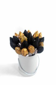 Tulipany złoto czarne glamour